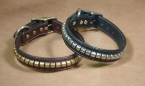 Dog Collars with Metal Clinchers - Black Dog Collar