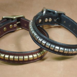 Dog Collars with Metal Clinchers - Black Dog Collar