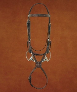 Hadfield's Raised Fancy Padded Figure 8 Bridle