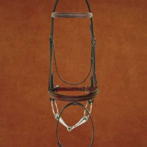 Hadfield's Raised Fancy Stitched Padded Bridle with Flash