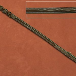 Hadfields Laced Reins with Raised Bit End
