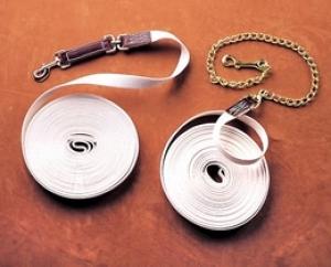 Cotton Web Lunge Line 45' w/ Chain