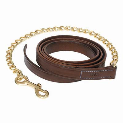 Walsh Leather Lead with Chain