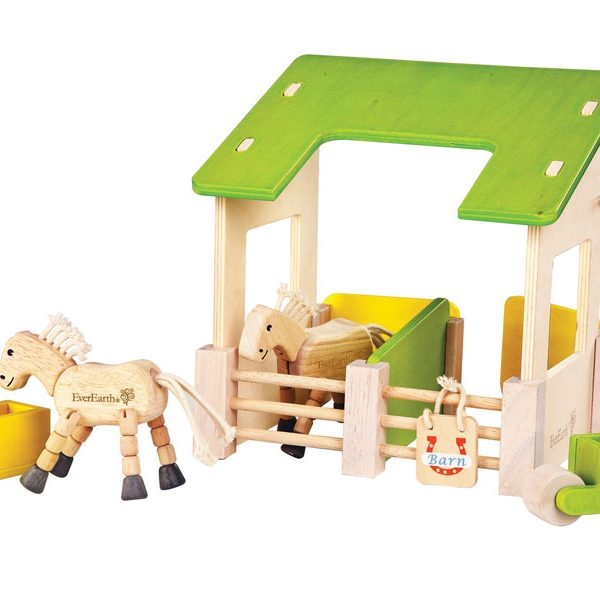Toy Barn with Horses