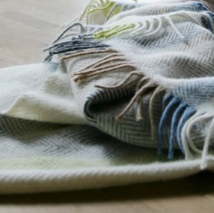 Klippan Birka Wool Throw Natural