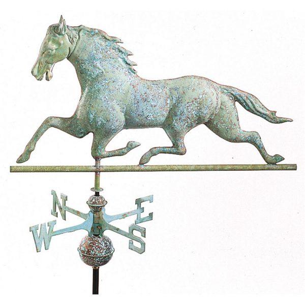 Antiqued Copper Horse Weathervane