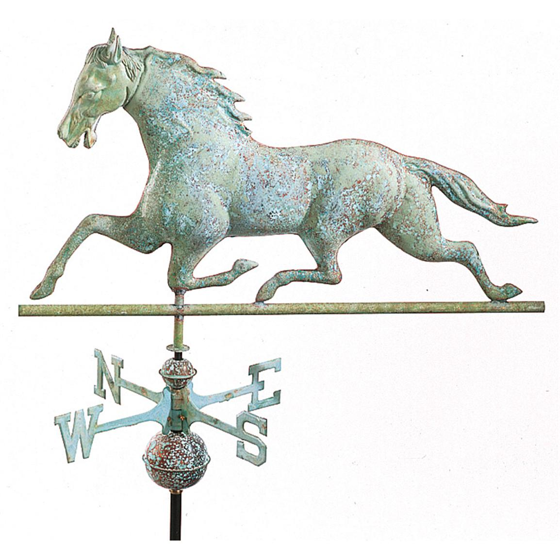 Antiqued Copper Horse Weathervane