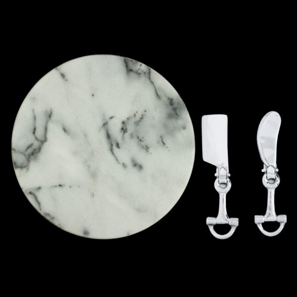 Equestrian Bit Marble Cheese Set by Arthur Court