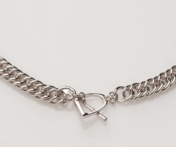 Curbchain Stirrup and Crop Toggle Necklace