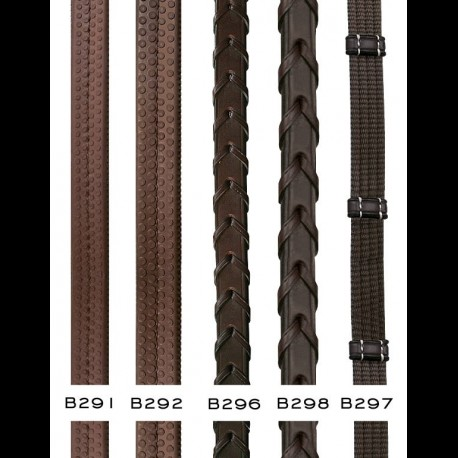 """Dyon 5/8"""" Rubber Reins Stainless Fittings"""