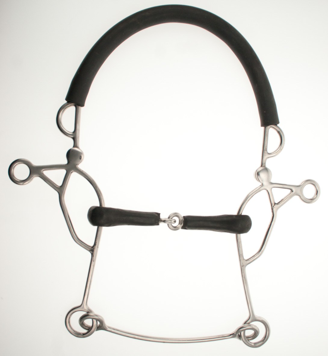 Abbey Hack-A-Bit Combination Hackamore- Rubber Snaffle