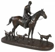 Huntsman and Hounds Statue by Oklahoma Casting
