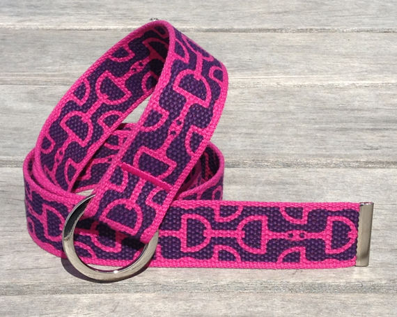 "Belt Bits Fuchsia  1.5"" Wide  Mango Bay"