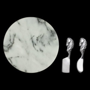 Horse Marble Cheese Set by Arthur Court