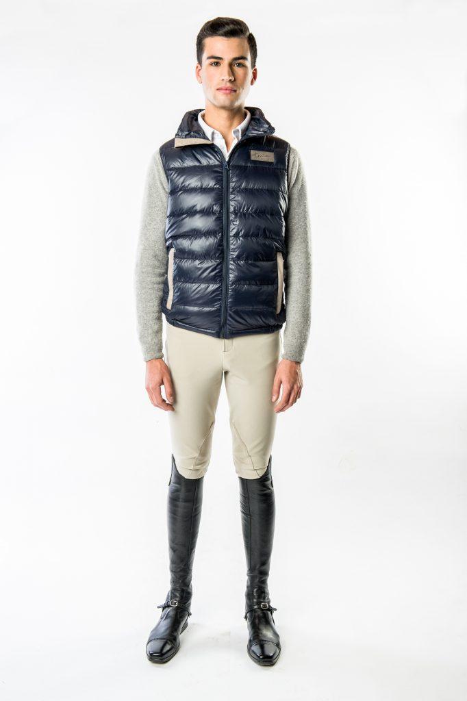 Men's Keene Light Weight Down Vest by Konia Equestrian