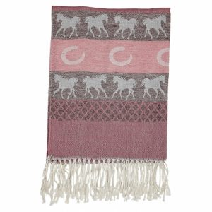 Pashmina Horse and Horseshoe Scarf