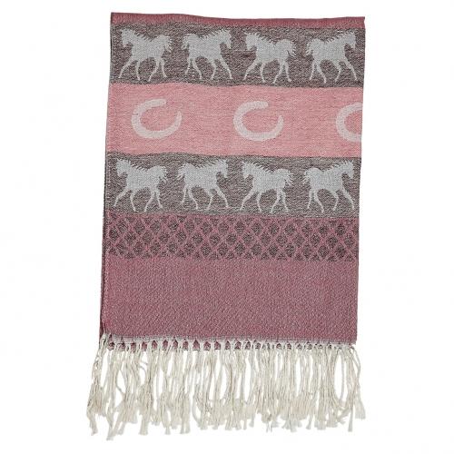 Pashmina Horse and Horseshoe Scarf