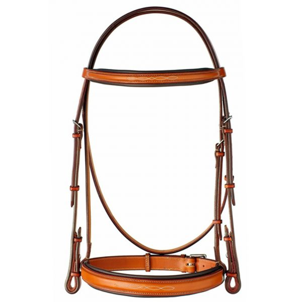 Edgewood Wide Raised Fancy Stitched Padded Bridle